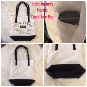 Pure Honey Canvas Tote W/Waterproof Lining